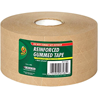 Reinforced Water Activated Gummed Kraft Paper Tape For Box Packaging Shipping