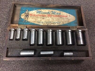 Minute Man Keyway Broach Guides Dumont Set Lot Of 10 Dumont And 2 Unbranded