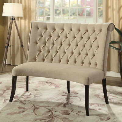 Strange Merissa Round Curved Dining Loveseat Bench Tufted Scroll Caraccident5 Cool Chair Designs And Ideas Caraccident5Info