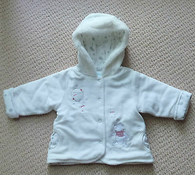 NWT Disney Licensed Winnie The Pooh Baby White Fleece Jacket Coat Size 00 or 0