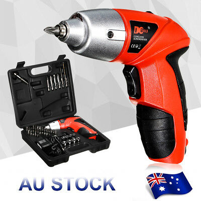 4.8V 45 Pieces Cordless Screwdriver Drill Driver Set Rechargeable Electric Drill
