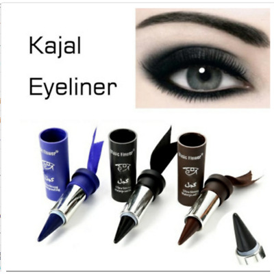 KAJAL Smoky Eyes Gel Pencil Eyeliner Solid Thick Black Bold Eyes Liner Makeup