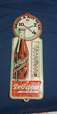 Dr.Pepper Thermometer 1930's Robertson / FINAL PRICE REDUCTION