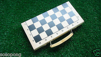 Chinese Wood Chess Folding Board Portable Set 30*30*2cm 32 Pieces Free Shipping