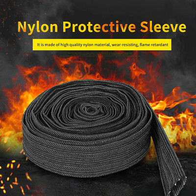 25FT Nylon Protective Sleeve Sheath Cable Cover Welding Torch Hydraulic Hose wtt