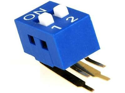 2x DSK-02 Switch DIP-SWITCH Poles number2 ON-OFF 0.05A/12VDC -20÷70°C