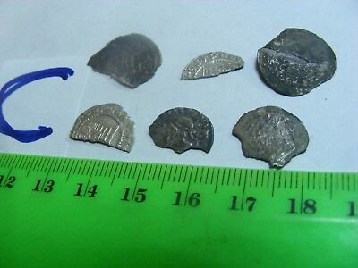 Lot of 6 Medieval Europe damaged & Cut coins,mostly silver.(C)