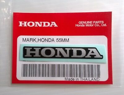 HONDA MARK 55mm SILVER / BLACK DECAL STICKER LOGO BADGE 100% GENUINE ORIGINAL