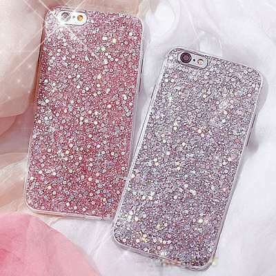 Bling Glitter For iPhone Samsung Galaxy Huawei Phone Case TPU Gel Silicone Cover