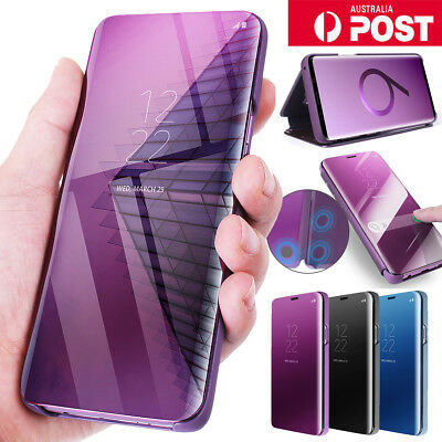 ORIGINAL Samsung Galaxy S9+ Note 8 S8+ Case Smart S-View CLEAR Flip Stand Cover