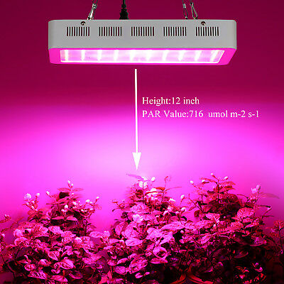 Dimmable 300W LED Grow Light Full spectrum Big Size Yard Indoor Veg Plant CA