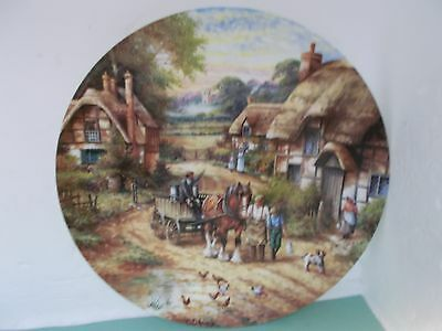 Wedgwood Early Morning Milk Country Days Collectors Plate by chris howells