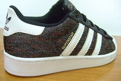 Original Boys Adidas Superstar Shell Toe Sports Casual Trainers Size 11 - 12.5