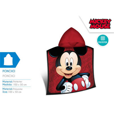 Poncho Mare Microterry 100X50 Cm Mickey