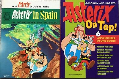 Asterix Hardcover Books Asterix In Spain and Asterix On Top