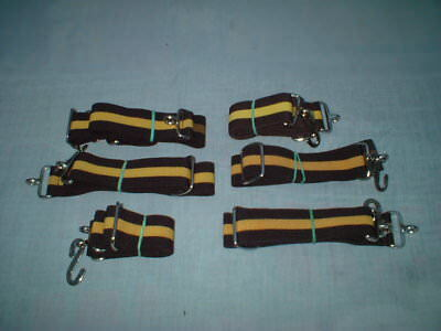 Adult Boys Mens Girls Elasticated  Yellow and Brown Striped Snake Belt