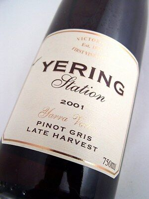 2001 YERING STATION Late Harvest Pinot Grigio Isle of Wine