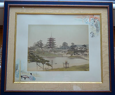 The Japanese aesthetic antique double-sided photograph vintage 1860