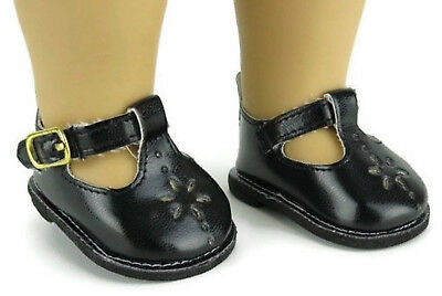 1393a45bb4542 BLACK MARY JANE Shoes for 14.5 inch American Girl Wellie Wishers Dolls