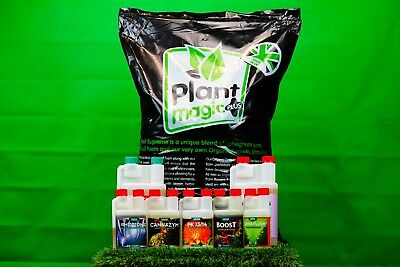 Canna Nutrient Package & Plant Magic Plus Soil - Hobby Starter Kit Hydroponics