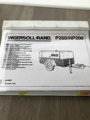 Ingersoll Rand P260 Hp200 Air Compressor Operators Main. Parts Manual Incvat