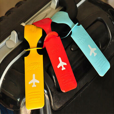 PVC Travel Luggage Labels Strap Suitcase ID Name Address Identify Tags Airplane