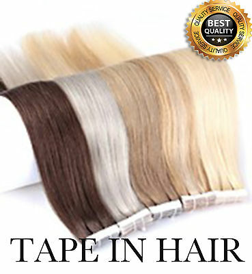 Tape in Skin Weft 100% Real Remy Human Hair Extensions 6A 50g/20pcs UK110