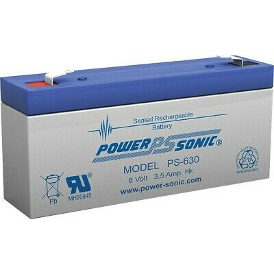 POWER SONIC 6V 3.5 Amp Sla Battery F1 Terminal Sealed Lead Acid