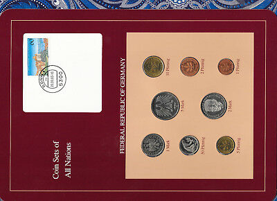 Coin sets of all nations Germany 1986-1989 UNC 5 Mark 1987 2 Mark 1989 1 Mark 86