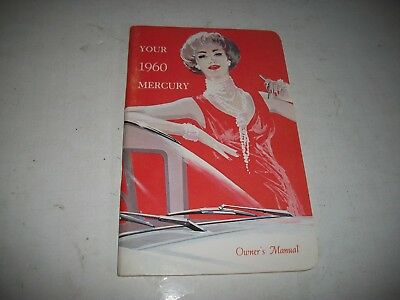 Original 1960 Mercury Owners Manual Rare Canadian Only Nos