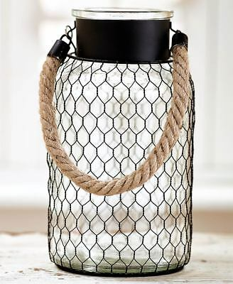 The Lakeside Collection Large Chicken Wire Glass Vase