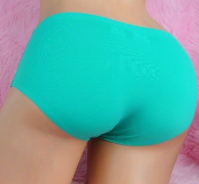 smooth SEAMLESS NYLON sexy Beaded Heart 12 colors sissy Brief panties sz M L
