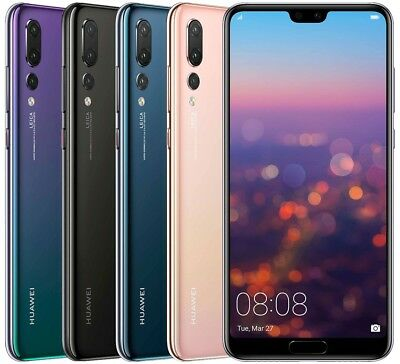 "Huawei P20 Pro CLT-L29 128GB Dual Sim (FACTORY UNLOCKED) 6.1"" 6GB RAM Black Blue"