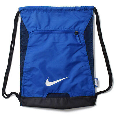 42747e7b901f NIKE ALPHA ADAPT Gymsack Black white Drawstring Bag Backpack Gym ...