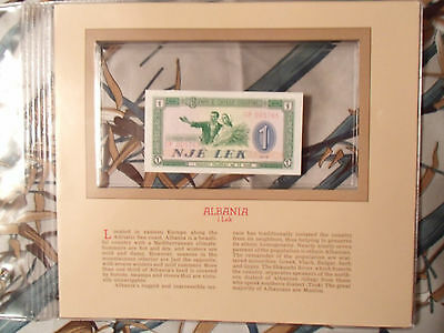 Treasured Banknotes Albania P 40a 1976 UNC 1 Lek Consecutive Low # GP005764, 5
