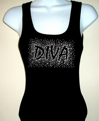 6d73f1b65ef8ac Sequin Hello Kitty Solid Tank Top Shirt Color Black Size Small to XXL.