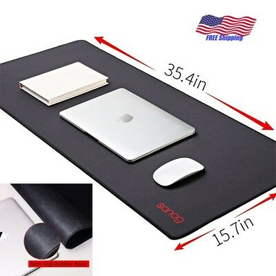Large Gaming Mouse Pad Washable Ultra Thick Mat Non-Slip Rubber Base Mousepad