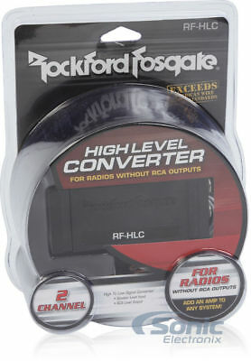 NEW! Rockford Fosgate RFHLC  2-Channel High-to-Low Level Converter HI QUALITY