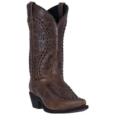 a94e29563f2 LAREDO MENS LARAMIE Western Cowboy Boots Stitched Leather Pull On ...