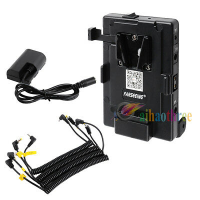 FARSEEING V-lock Battery Plate Power Supply System For Canon 5D Mark II 5D2 7D