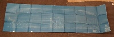 """(CR203) Original undated Blueprint Drawing 27"""" x 94"""" -Moulded Lines for 5000 Ton"""