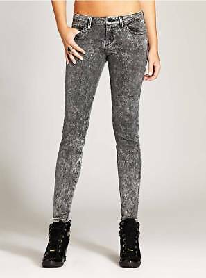GUESS PATCHED BRITTNEY Mid Rise Denim Leggings With Zips In