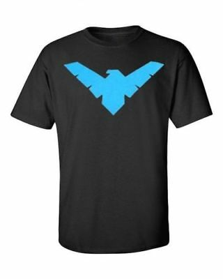 DC NightWing T-Shirt Batman Robin Black Graphic Novel Comic S-2XL