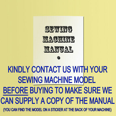 Copy Sewing Machine Manual/instructions For Toyota Rs2000
