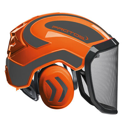 Protos Integral Forest orange-grau F39 Pfanner Helm Forsthelm Schutzhelm