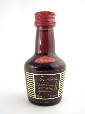 Miniature circa 1987 TIA MARIA Coffee Liqueur 26.5% proof Isle of Wine