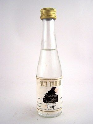 Miniature circa 1985 AVA TAHITI ORANGE EAU DE VIE Isle of Wine