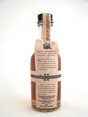 Miniature circa 1992 BASIL HAYDEN'S Bourbon Whiskey Isle of Wine