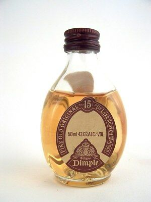 Miniature circa 1989 ORIGINAL DIMPLE HAIG 15yo Scotch Whisky Isle of Wine