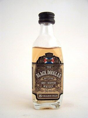 Miniature circa 1985 BLACK DOUGLAS 8yo Scotch Whisky Isle of Wine